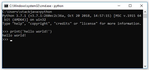 Code ví dụ Python Hello World bằng Eclipse, Python Shell