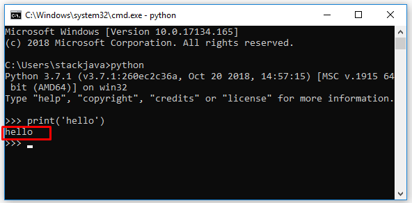 Hướng dẫn cài đặt, lập trình Python trên Windows 10
