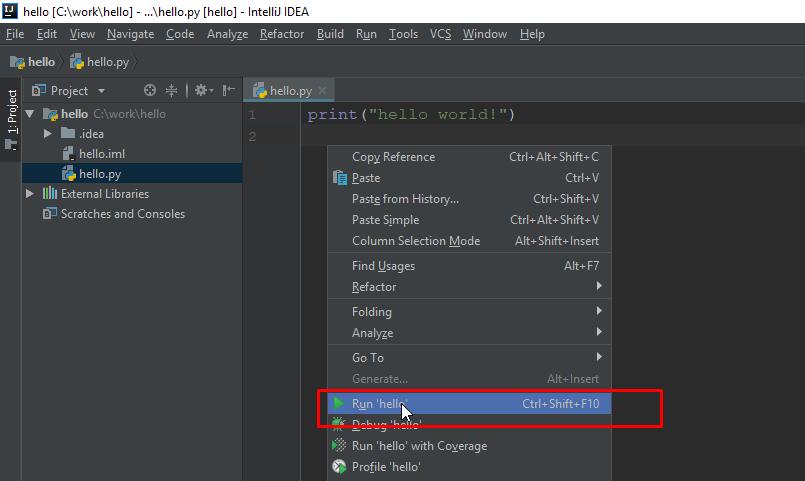 Lập trình Python trên IntelliJ IDEA (code Python trên IntelliJ)
