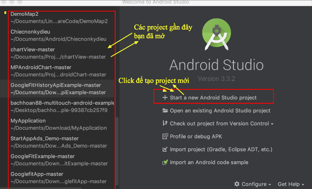 Code ví dụ Android Hello World với Android Studio